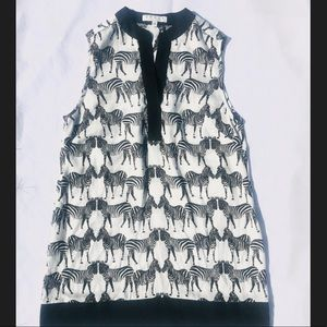 Chaus Zebra print Blouse